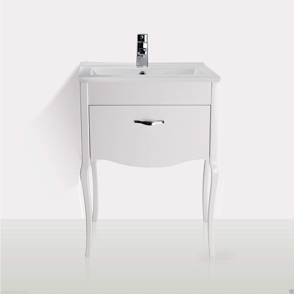 vanity basin units for bathroom. FLORIDA Traditional Freestanding White Basin Vanity Unit  600mm