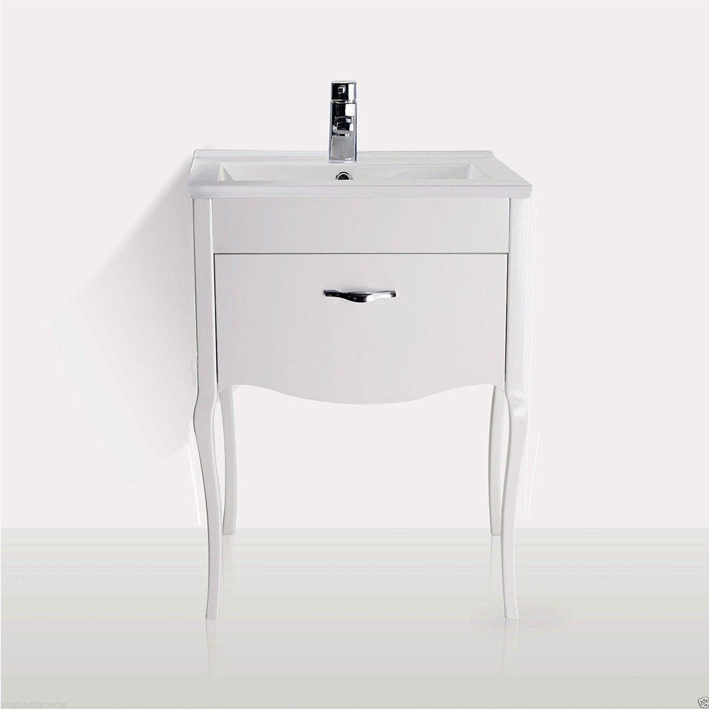 FLORIDA Traditional Freestanding White Basin Vanity Unit   600mm