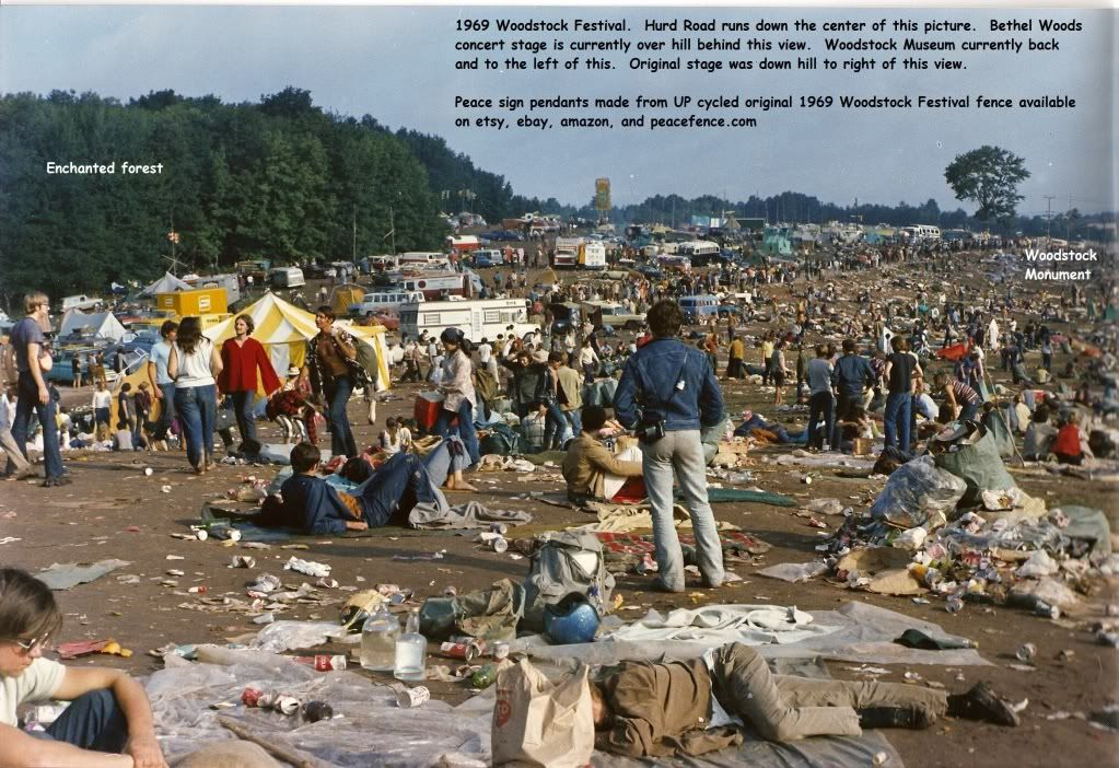 Hurd Road During The Original 1969 Woodstock Festival
