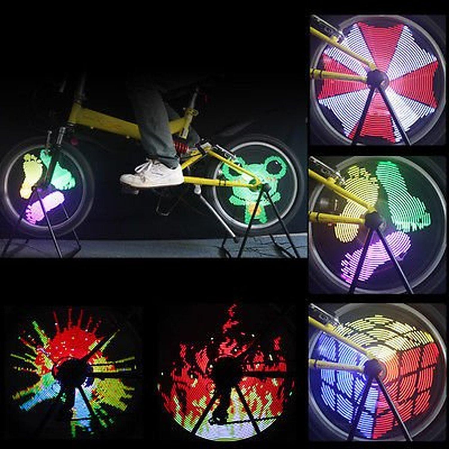 tire lights led riding on green for experience enhance wheel pin to bike night lighting spokes your