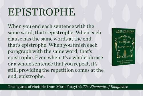 Epistrophe Eofe Rhetorical Devices And Strategies Pinterest
