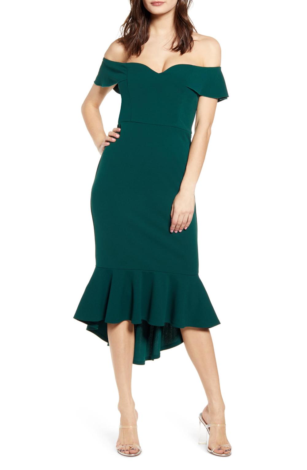 Love Nickie Lew Sweetheart Midi Dress Nordstrom Dresses Green Midi Dress Fashion Clothes Women [ 1533 x 1000 Pixel ]
