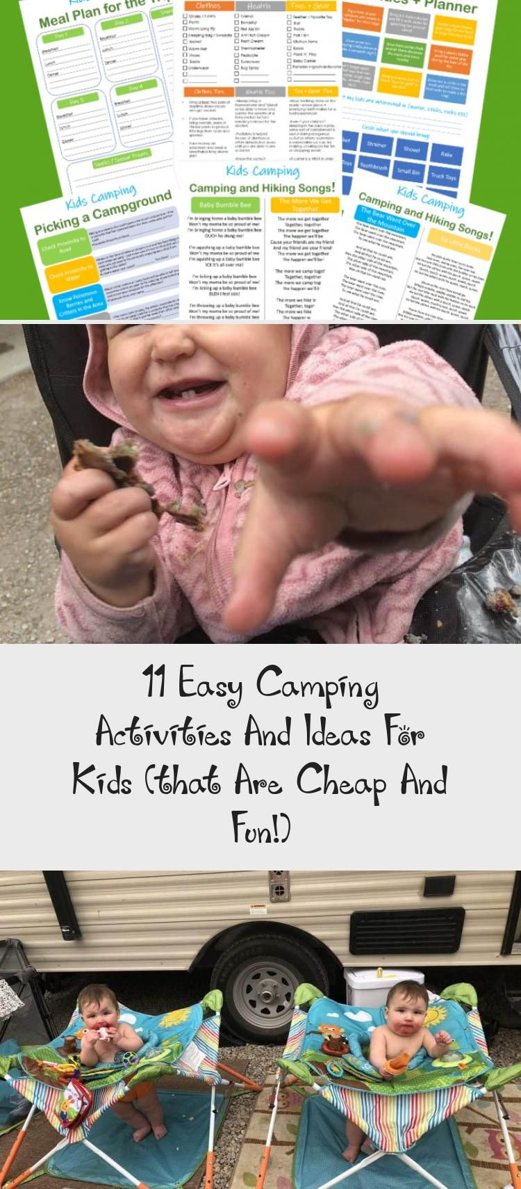 11 Easy Camping Activities And Ideas For Kids (that Are Cheap And Fun!) Keep a toddler busy while f