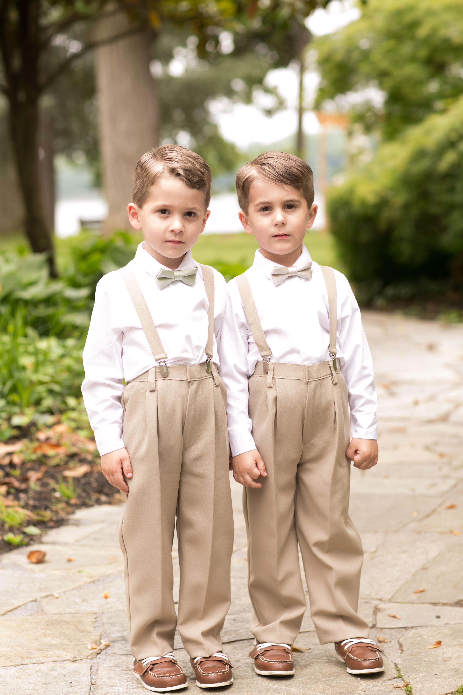 Rustic Wedding Outdoor Wedding Ring Bearers Bow Ties Suspenders
