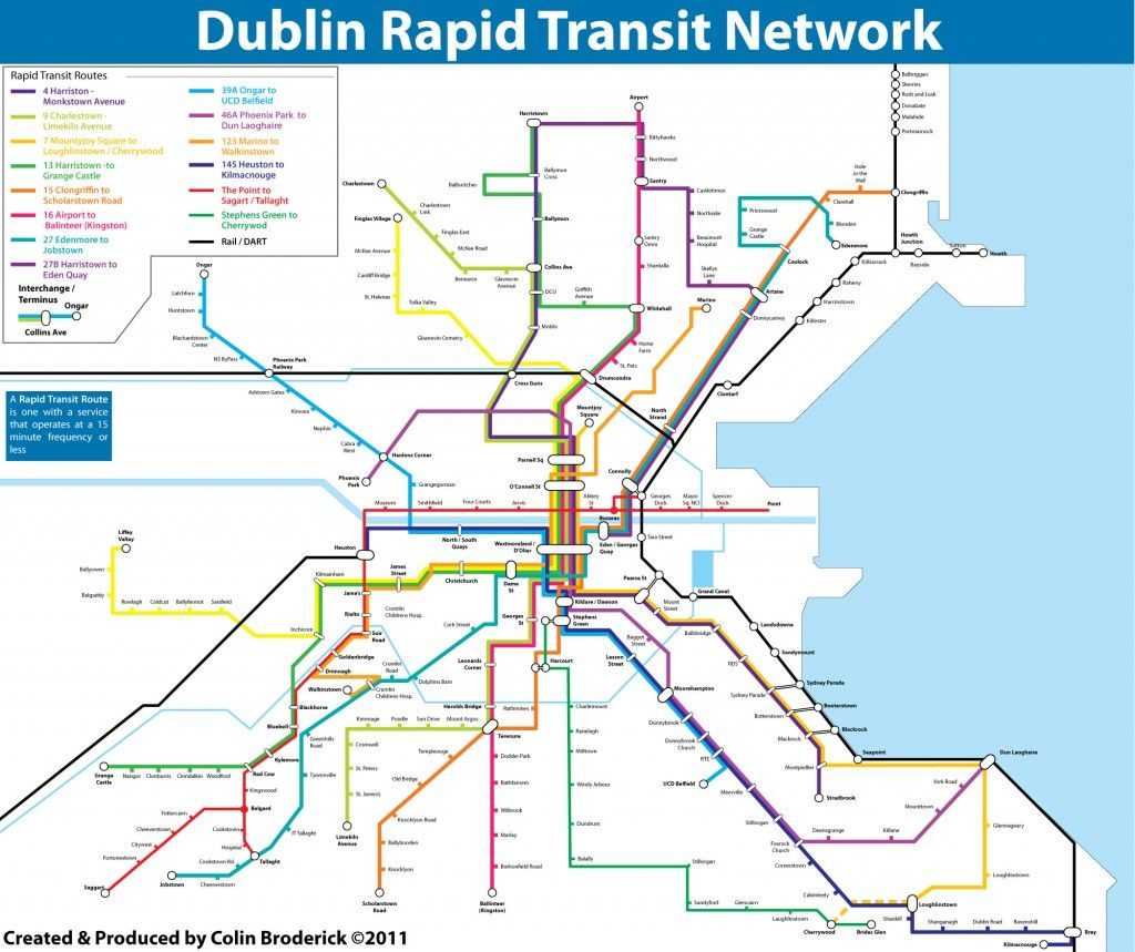 Dublin Rapid Transit Map TisIreland Pinterest Rapid