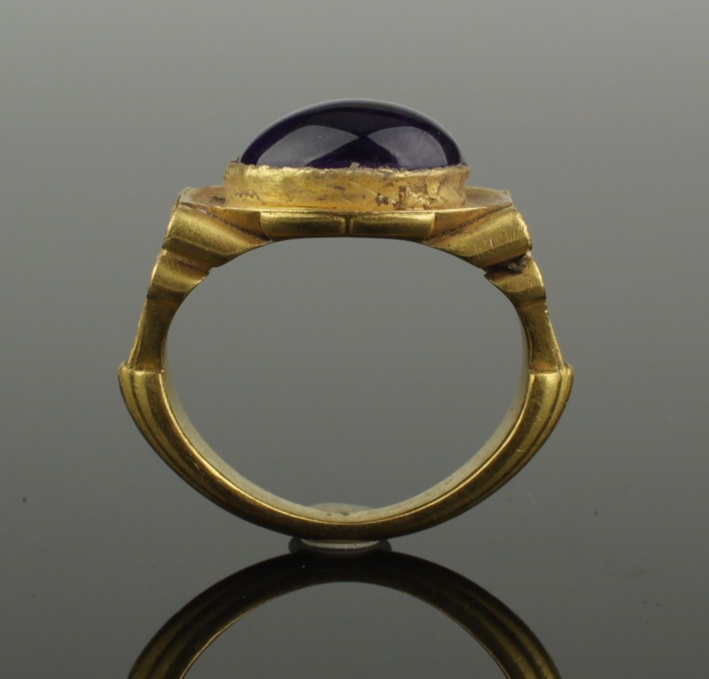 Ancient Roman Rings magnificent ancient roman gold ring with amethyst - 2nd