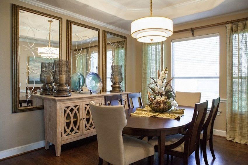 Large Dining Room Wall Mirrors Inspirational 10 Perfect Ways To Bine Sideboards With Ruang Makan Kamar Dekor Desain Kamar