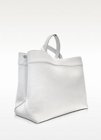 05461dcfc8a Jil Sander White Leather Twist Tote  1,565.00 Actual transaction ...