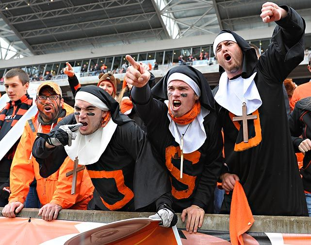 Nun can deny that college football is endowed with religious fervor even when the Beavers cough up the 116th Civil War game to the Oregon Ducks by the ungodly score of 48-24. Photo: Brian Murphy/Icon SMI