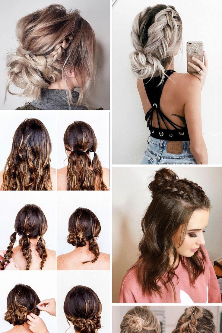 15 Creative Easy Hairstyles For Medium Hair Ideas You Will Fall In Love Creative Easy Fa Medium Hair Styles Hair Styles Short Hair Styles Easy