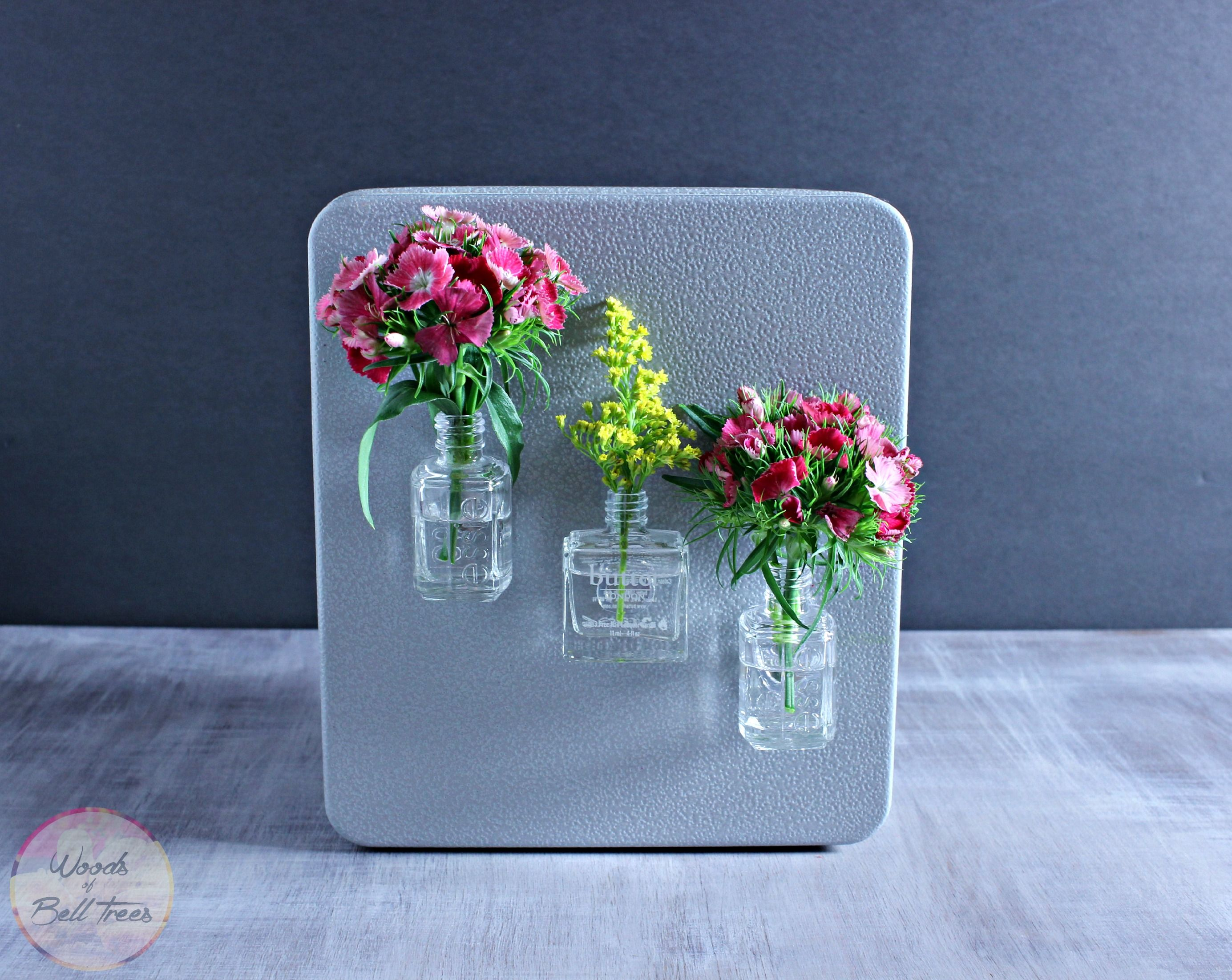 Make these DIY magnetic fridge vases for your kitchen as an ...