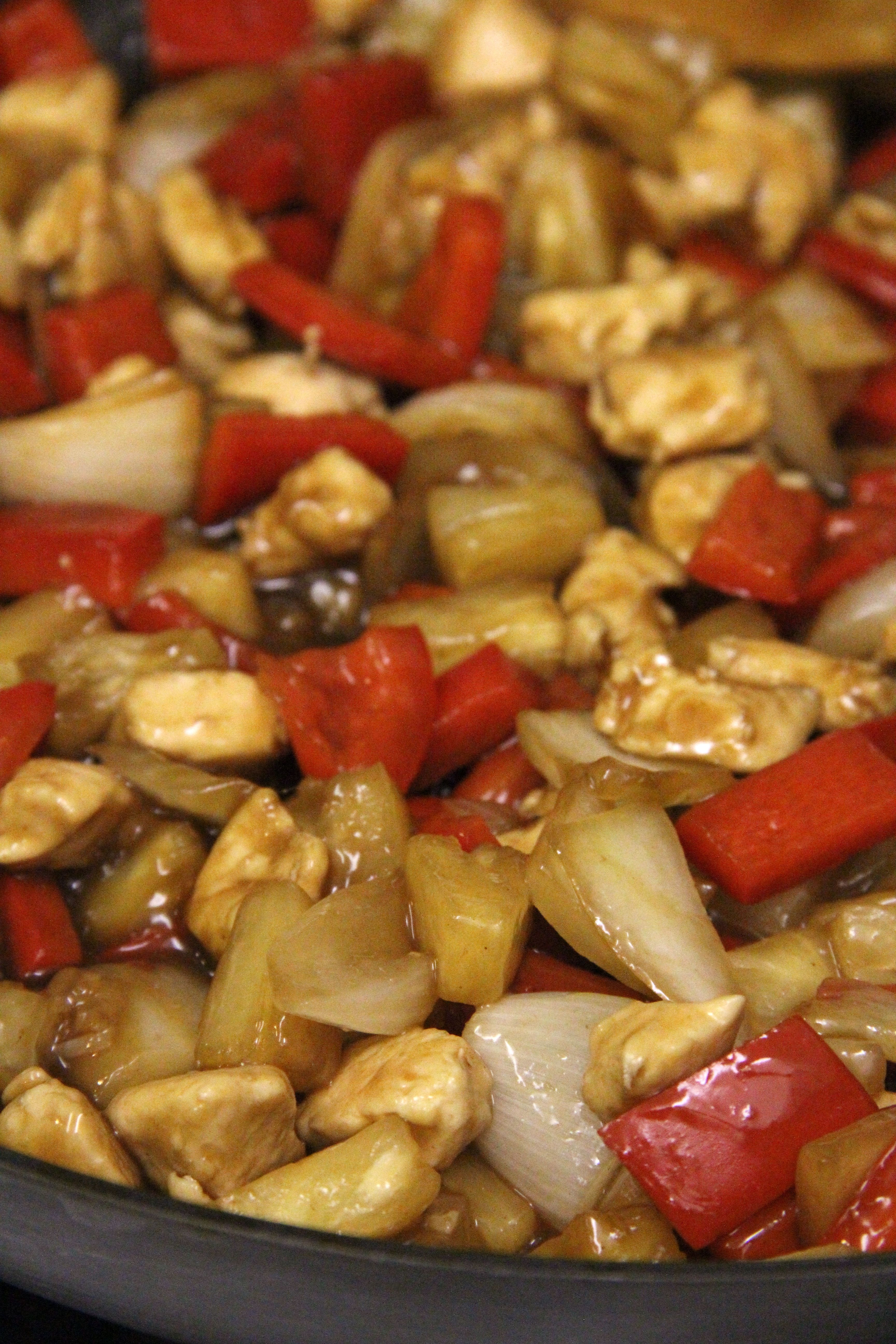 sweet 'n sour pineapple chicken with images  homemade
