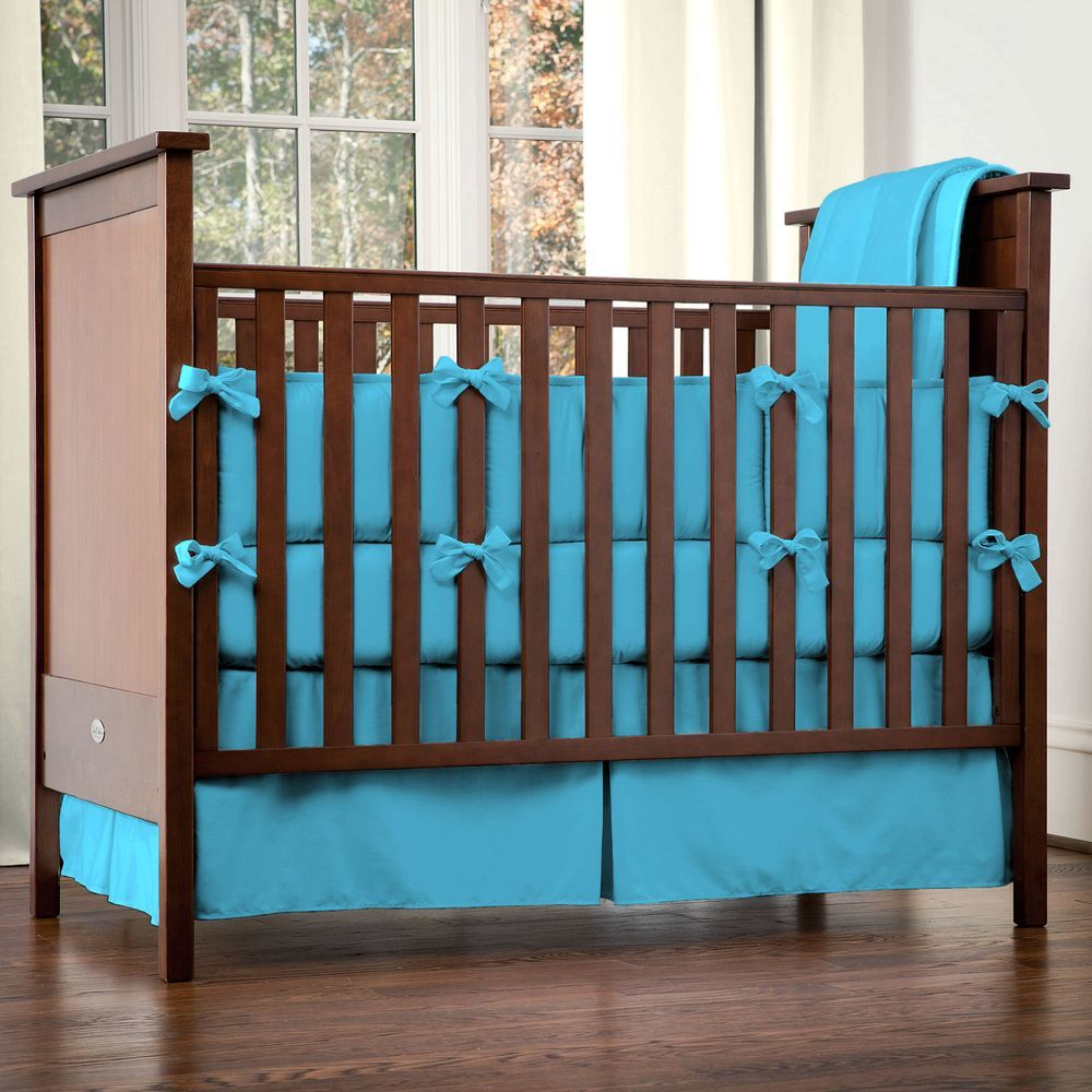 Turquoise Collection of Baby Crib Bedding and Nursery