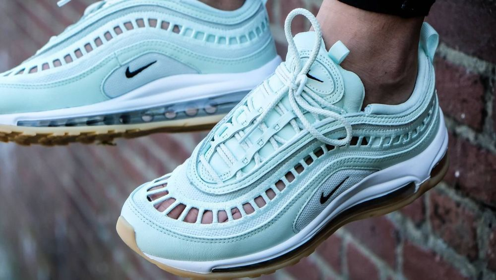 7faf93566d Nike Air Max 97 Ultra'17 SI | Barely Green/White | Womens Trainers [AO2326- 300] #Nike #LowTop