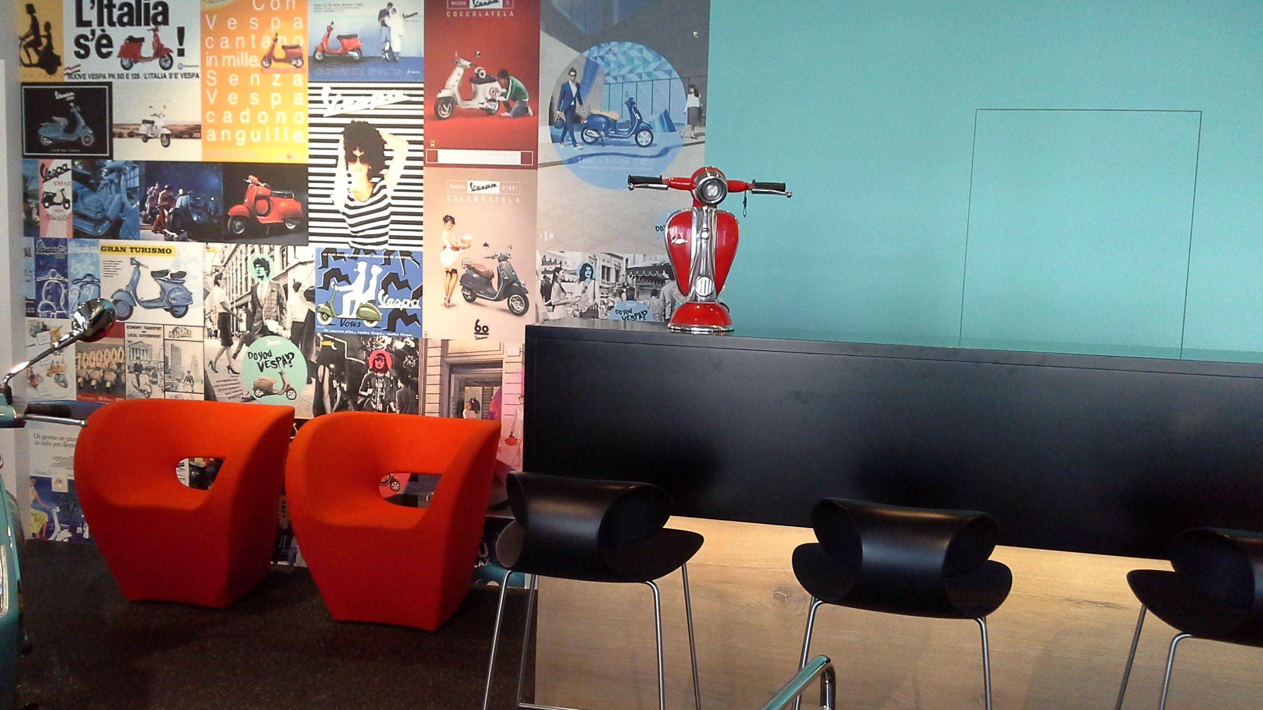 holiday vibes at the vespa shop #interiordesign #retaildesign