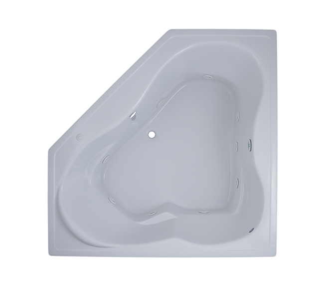 60 X 60 X 24 Corner Whirlpool Drop In Center Drain 2 Person