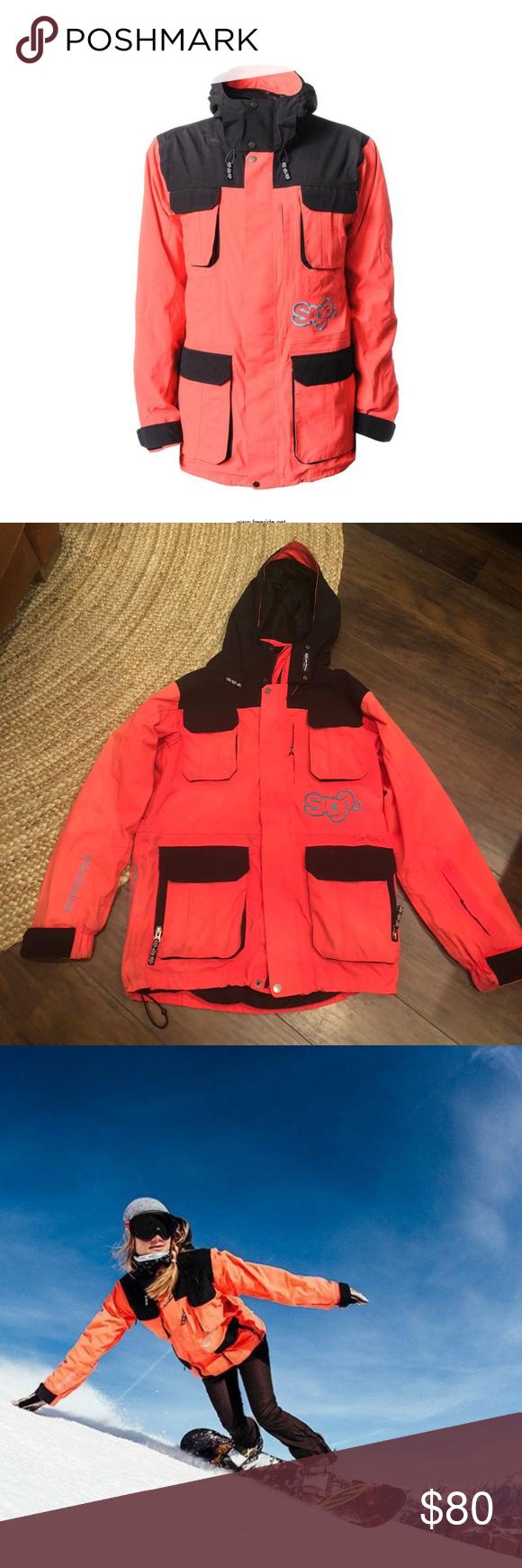 Saga Anomie 2l Snow Jacket Small Orange Black Snow Jacket Saga Outerwear Jackets [ 1740 x 580 Pixel ]