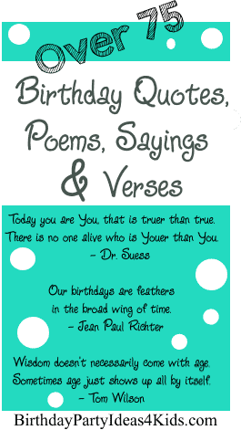 Happy Birthday Quotes Verses Sayings And Poems