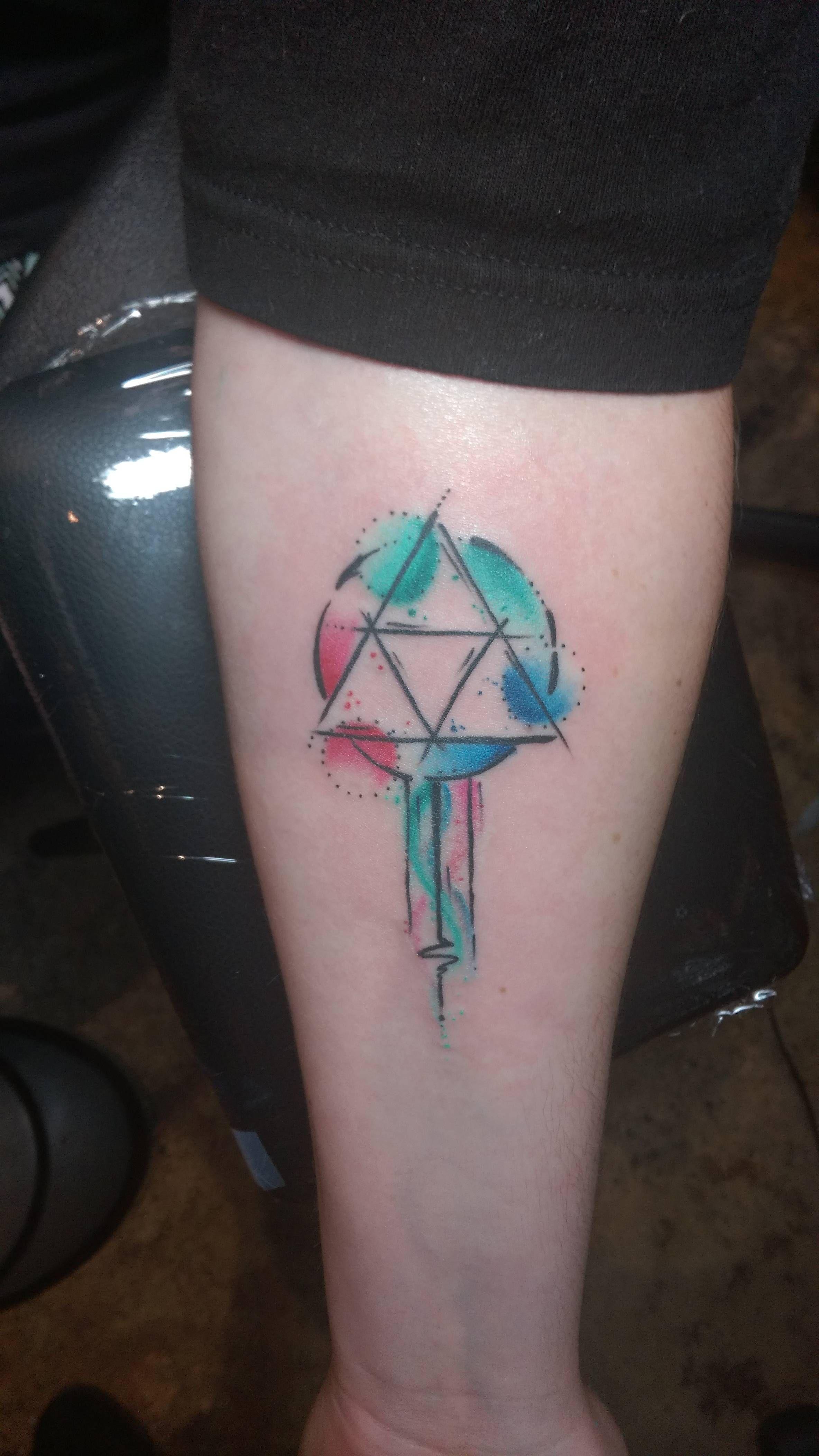 New Triforce Tattoo Done By Kayleigh At Revolution Ink Pelham Al Tattoos Small Wrist Tattoos Zelda Tattoo