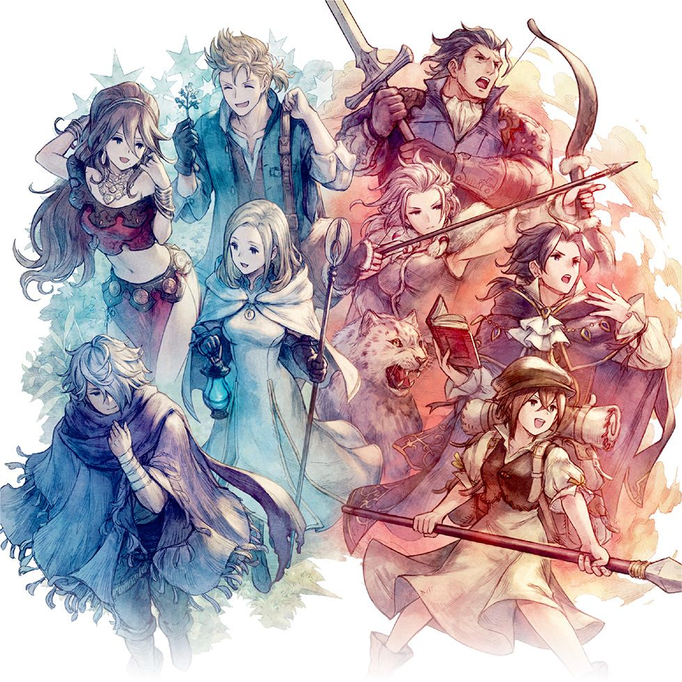 OCTOPATH characters (Cold and Hot film) | Octopath Traveler (Switch)