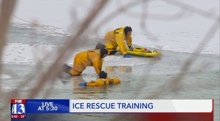 jumping in for ice rescue training fox13now com rescue learning techniques train pinterest