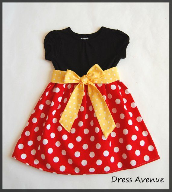 Minnie dress  Mickey Mouse dress  Toddler girls dress  Black ffc227c54