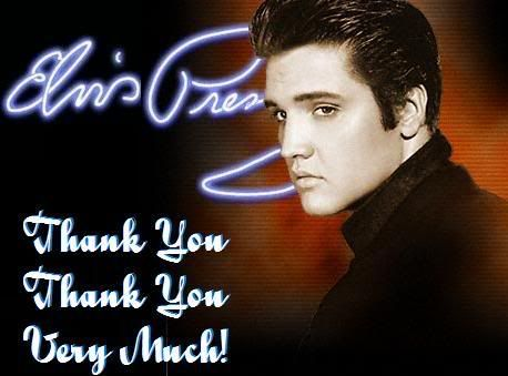 Elvis Presley Cardspics Saying Thank You Very Much