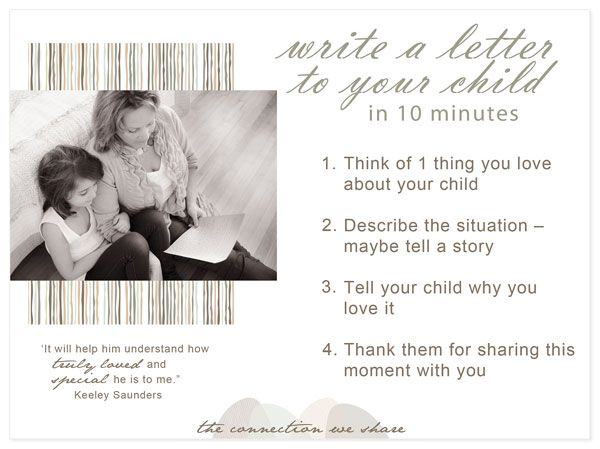 Sample Love Letter To Your Child