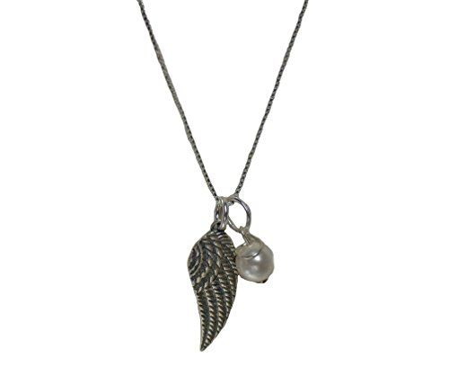 Angel Wing Charm Comfort and Remembrance Necklace -- You can find more details by visiting the image link.