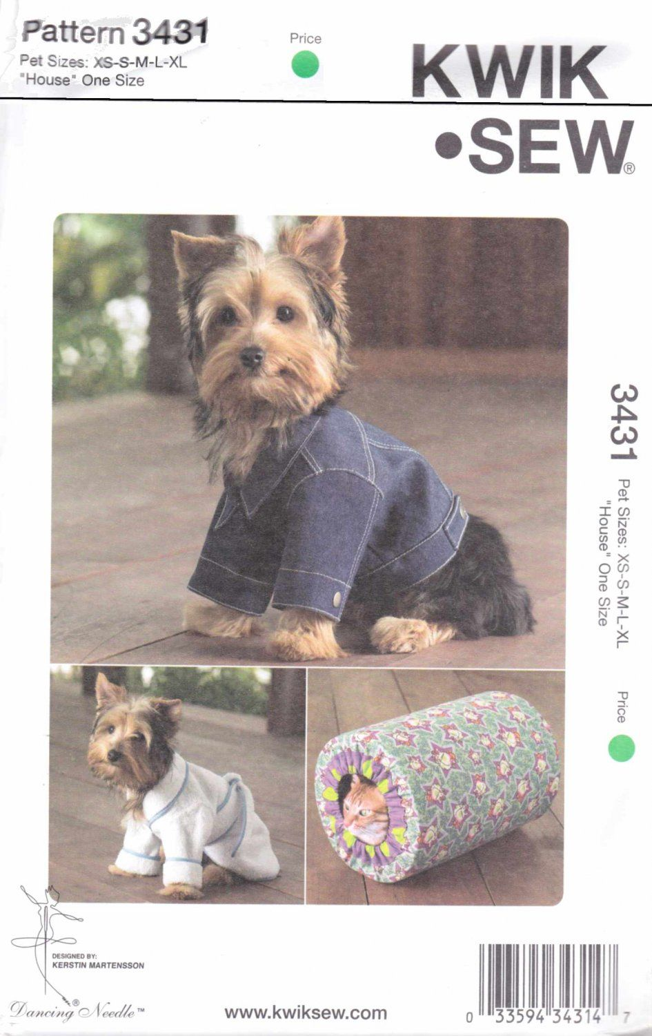 Kwik sew sewing pattern 3431 size xs xl dog blue jean jacket robe new dog clothes sewing pattern 3431 by kwik sew kwik sew sewing pattern is new you are buying the sewing pattern only not the finished item jeuxipadfo Image collections