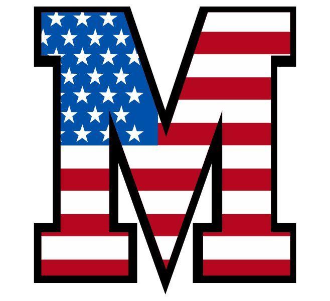 Buchstabe Letter M Vereinigte Staaten Von Amerika United
