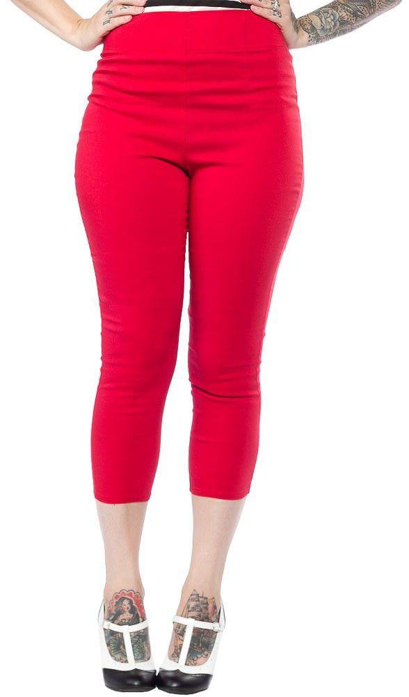 HELL BUNNY TINA CAPRIS RED $38.00 #hellbunny #capris #pinup #retro ...