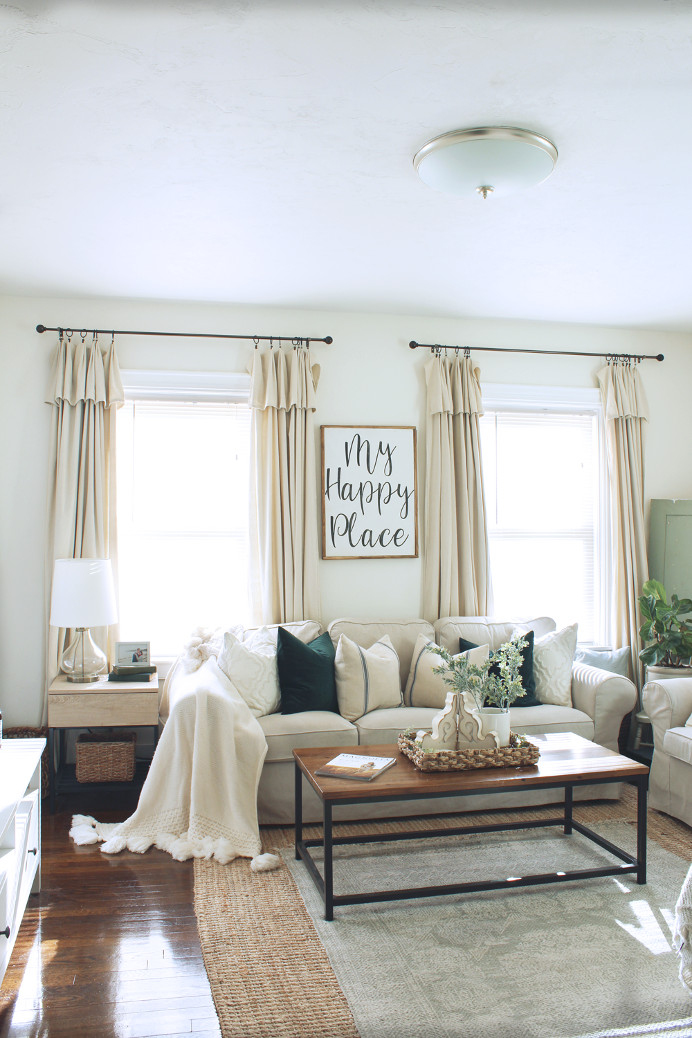 DIY Drop Cloth Curtains 2 Ways- Inexpensive and easy DIY for the perfect farmhouse style curtains! | michealadianedesigns.com
