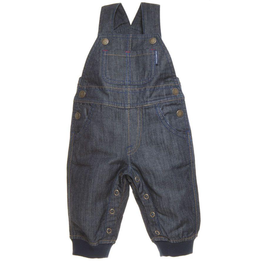 denim overalls for a newborn.