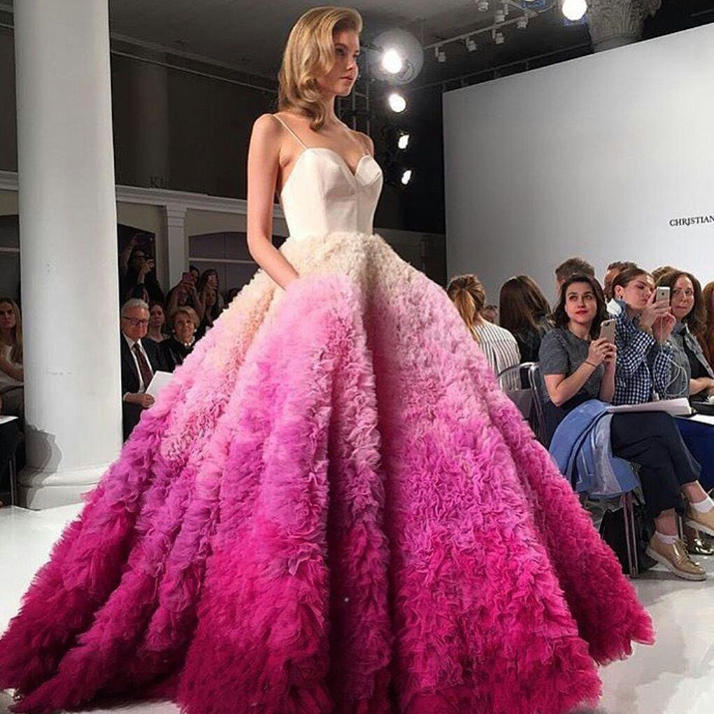 Christian Siriano pink ombre wedding dress! I am in absolute love ...