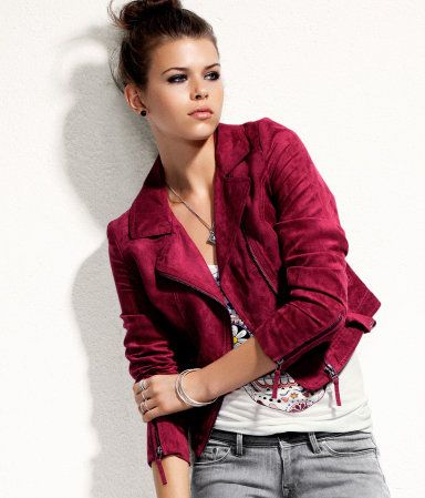 My new red fake leather jacket