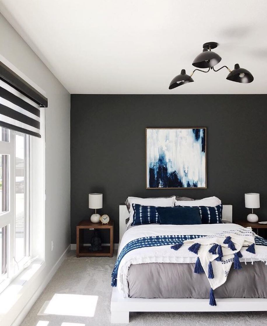 True Blue Styling Skills From Rebekah V A Black And White Bedroom