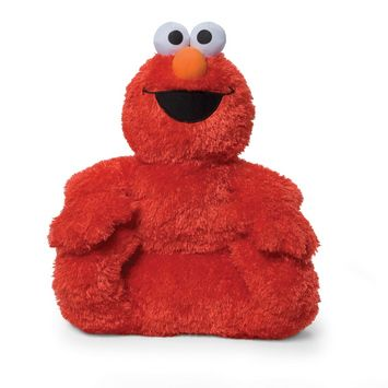 Hard not to join the Elmo Cushie in his happy place!