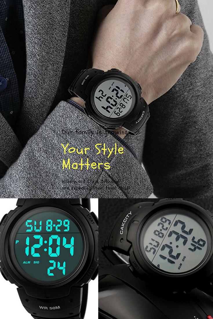 Watch - Leather pu stylish band led wrist watch video