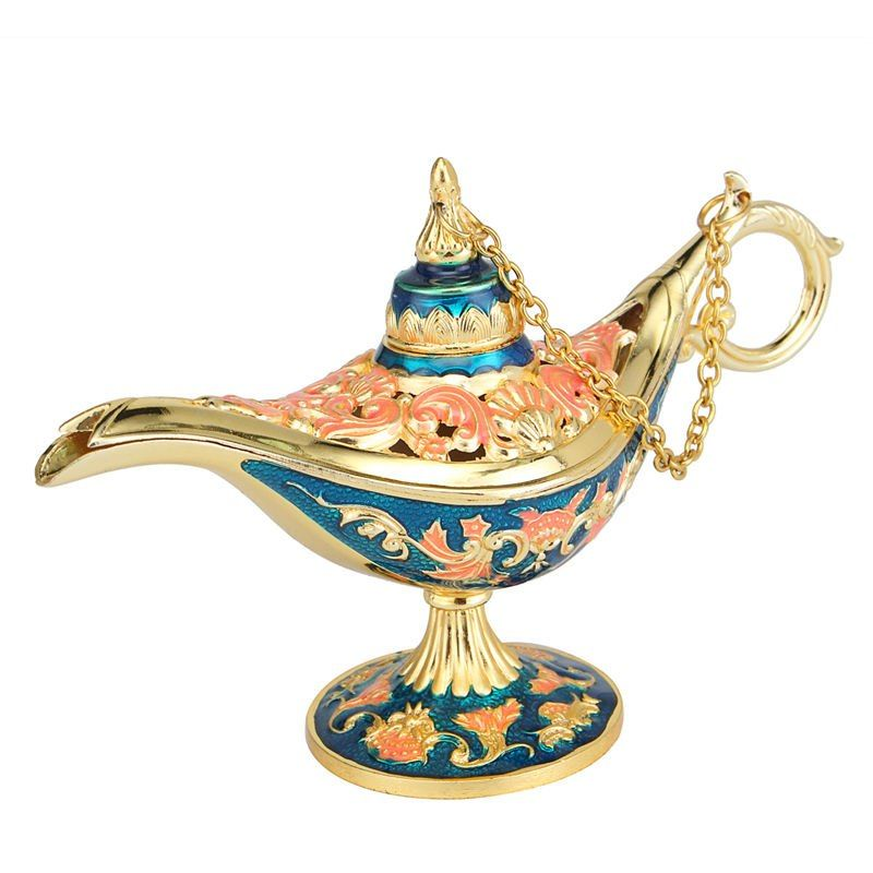 Red Usany Medium Magic Lamp Alloy Rare Lengend Genie Wishing Light With Point