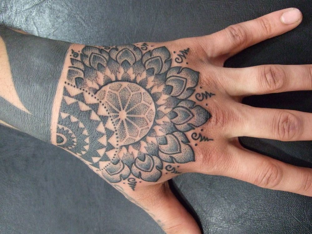Transmutation Tattoos Hand Tattoos Mandala Hand Tattoos Hand And Finger Tattoos