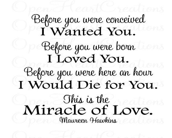 Before You Were Conceived I Wanted You Nursery Wall Decal Poem