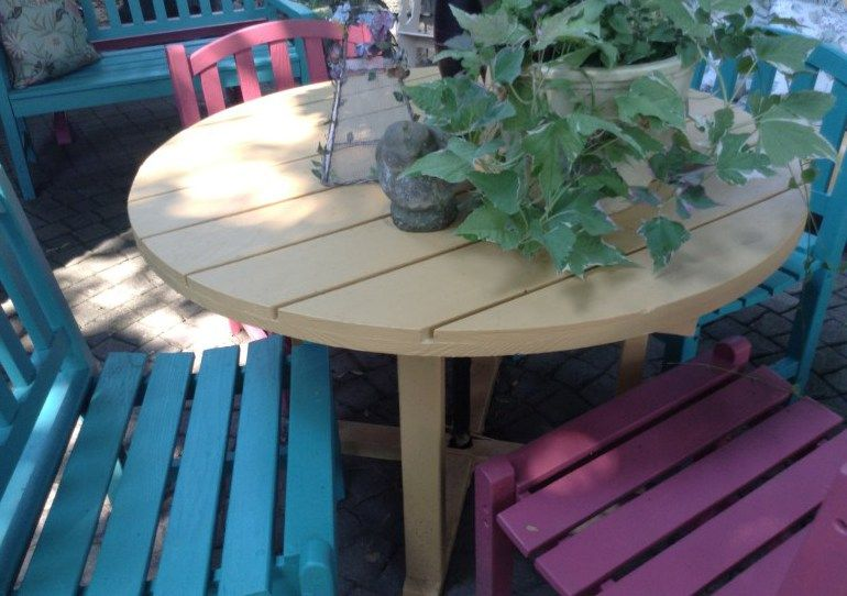 Annie Sloan Painted Outdoor Furniture - Outdoor Furniture Painted With Annie Sloan