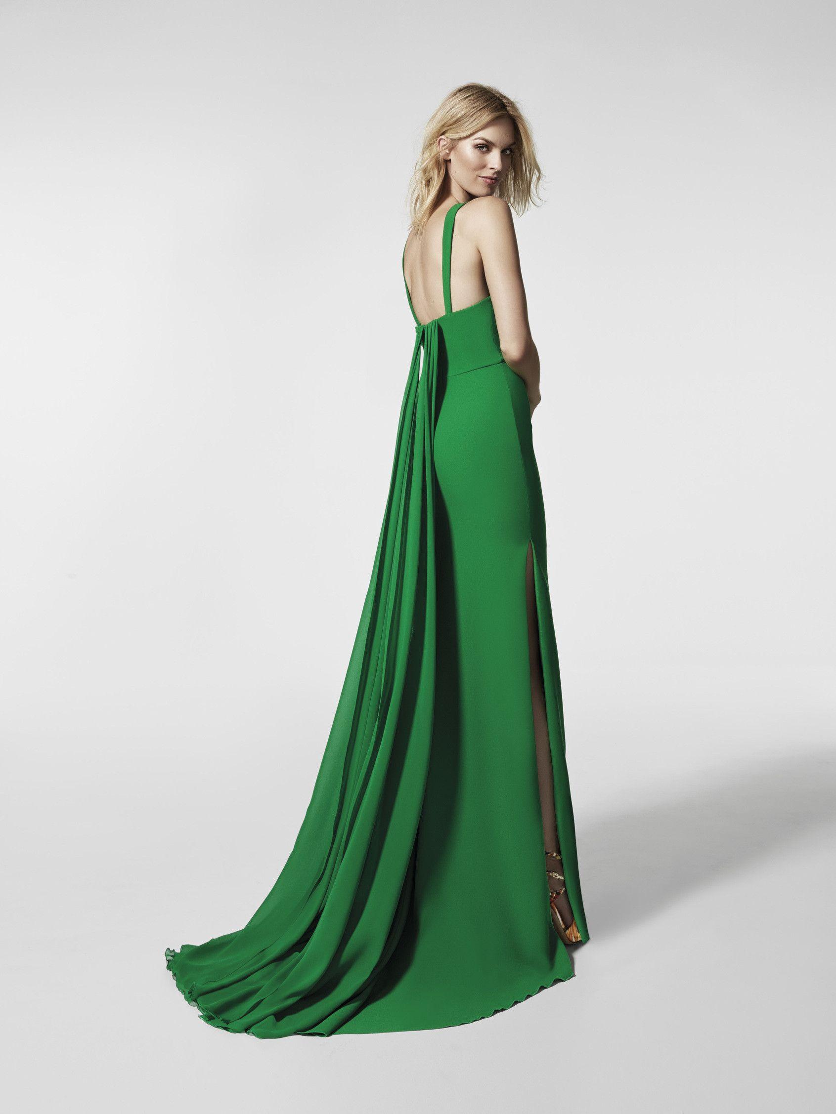 e3b0dfc36 Imagen del vestido de fiesta verde (62025). Vestido GRESAL largo sin mangas
