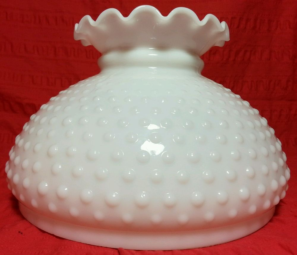 Vintage hobnail milk glass 10 student kerosene hurricane lamp vintage hobnail milk glass 10 student kerosene hurricane lamp shade replacement in collectibles lamps mozeypictures Image collections