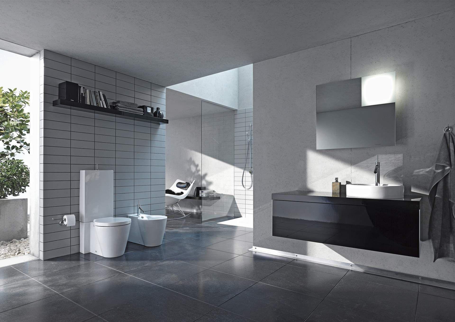 Design Bad in schwarz-weiß | Duravit | Bäder | Pinterest ...