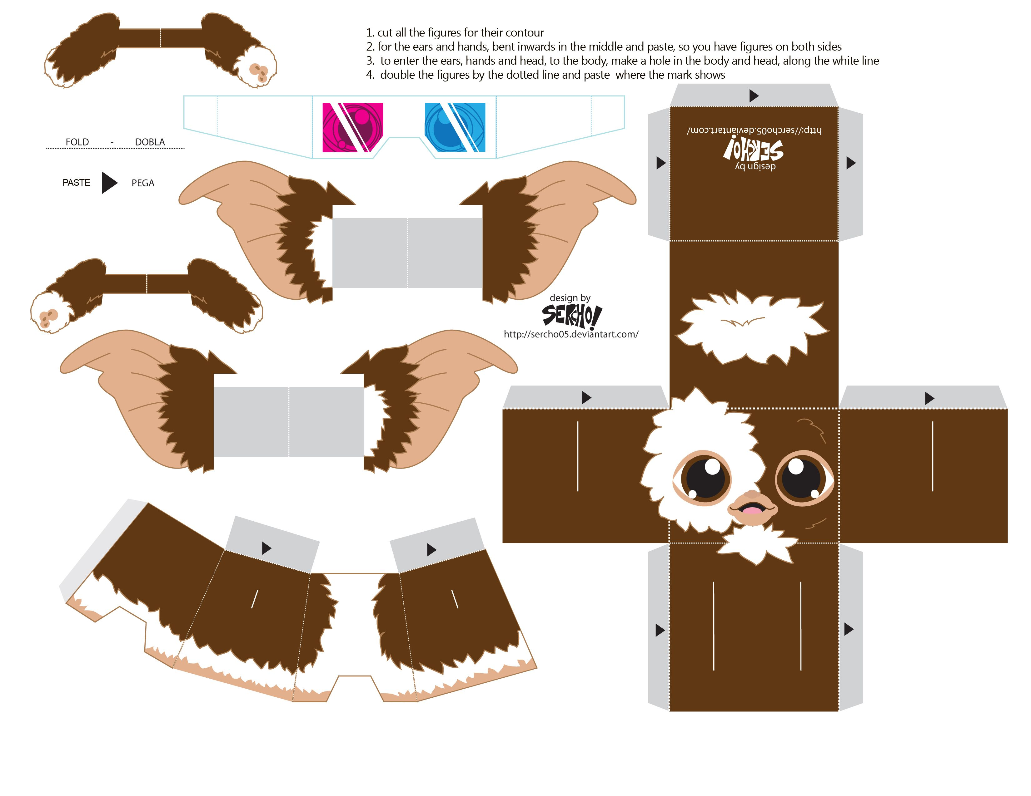 Uncategorized Paper Toys paper toys gremlins and google images toys