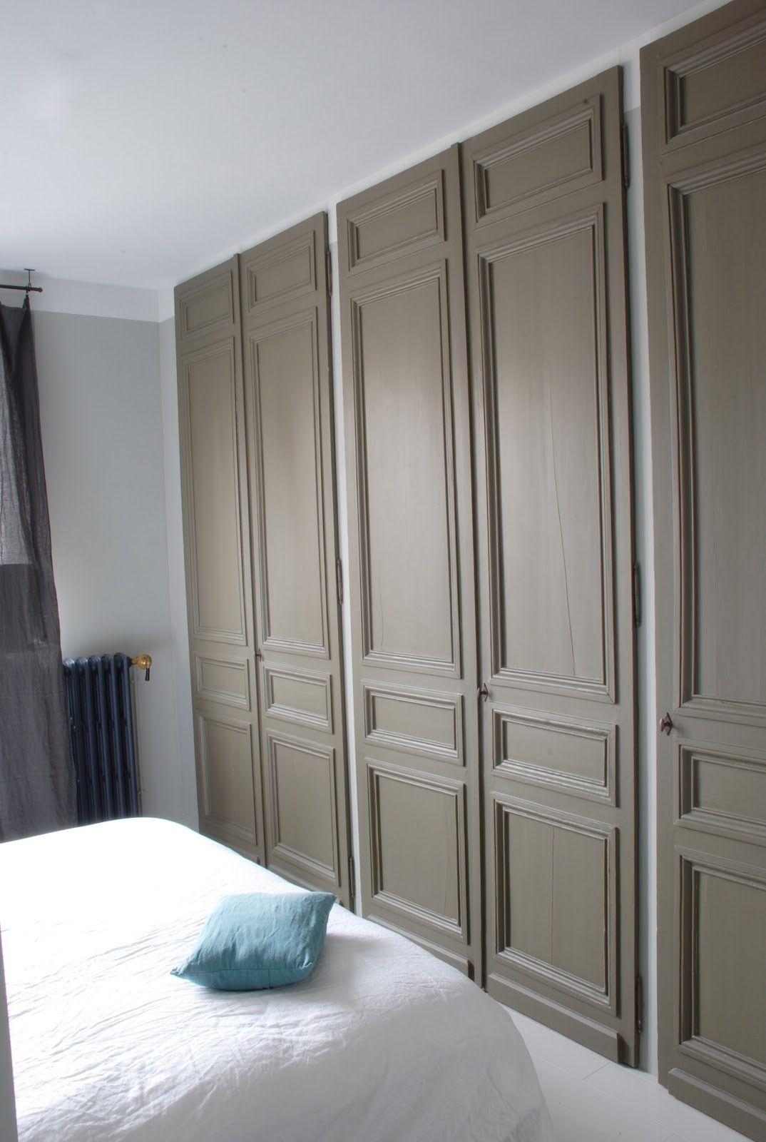 Placard avec des portes anciennes id pinterest portes anciennes placar - Dressing avec portes ...