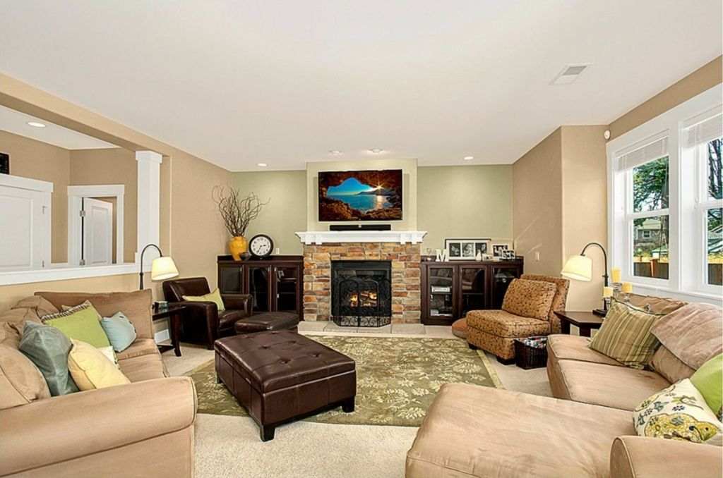 Living Room Paint Color Ideas With Brown Furniture Kitchen Cabinets