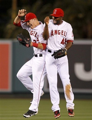 fd2e00f0bbc Game  23 4 30 2012  Los Angeles Angels center fielder Mike Trout ...